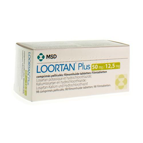 Loortan Plus 50 Mg / 12,5 Mg (98 Comprimes)