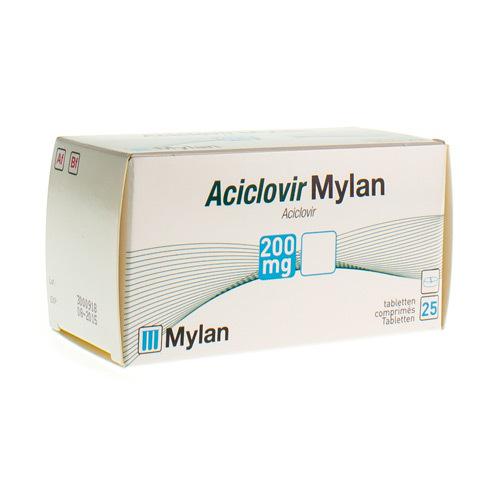 Aciclovir Mylan 200 Mg  25 Comprimes