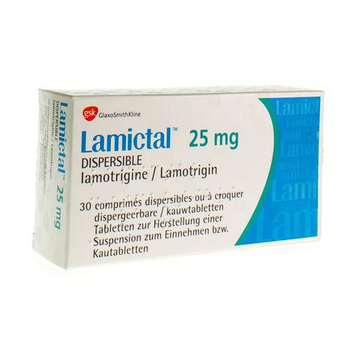 Lamictal 25 Mg (30 Comprimes a Croquer)
