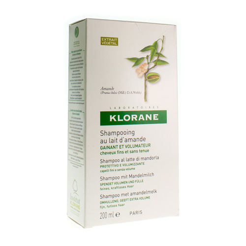 Klorane Shampoo Amandelmelk (200 Ml)