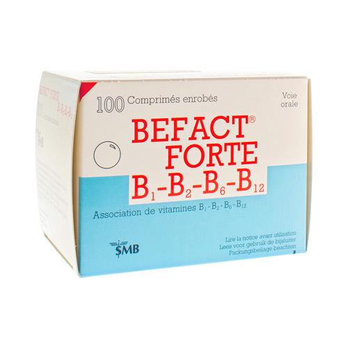 Befact Forte 250 Mg / 250 Mg / 10 Mg / 0,02 Mg  100 Comprimes