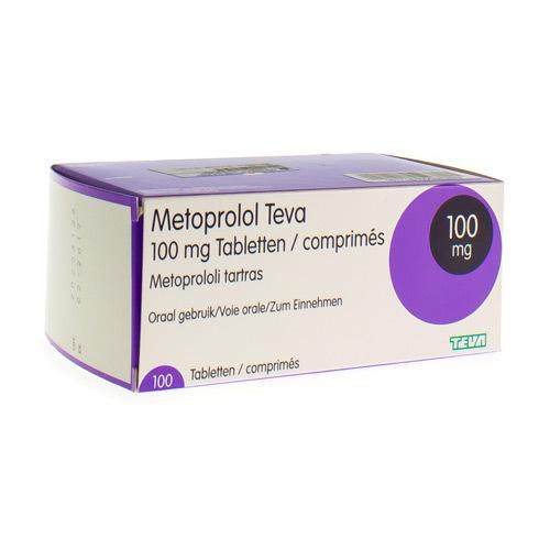 Metoprolol Teva 100 Mg (100 Comprimes)