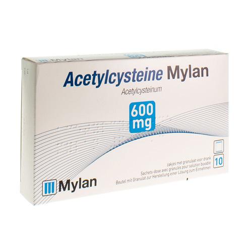 Acetylcysteine Mylan 600 Mg  10 Sachets
