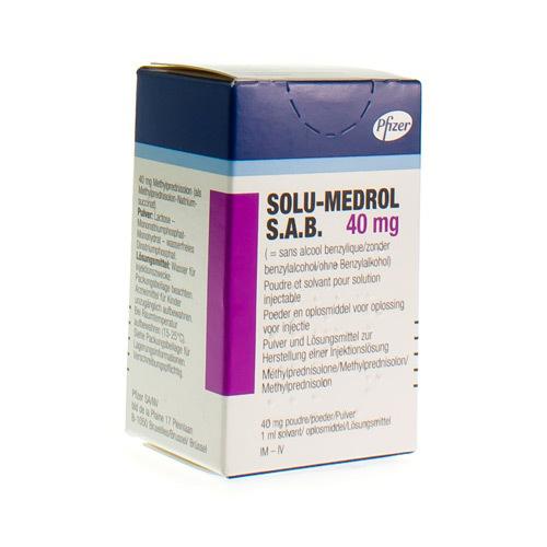 Solu-Medrol S.A.B. 40 Mg (1 Vial)