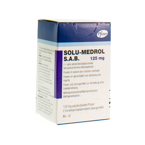 Solu-Medrol S.A.B. 125 Mg (1 Vial)