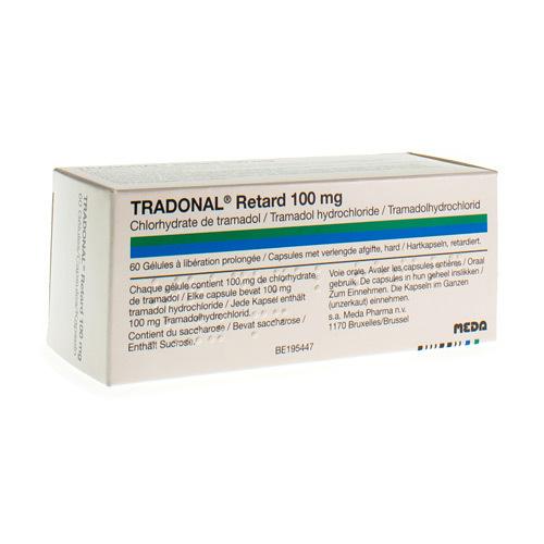 Tradonal Retard 100 Mg (60 Gelules)