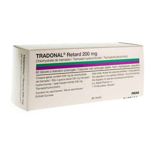 Tradonal Retard 200 Mg (60 Gelules)