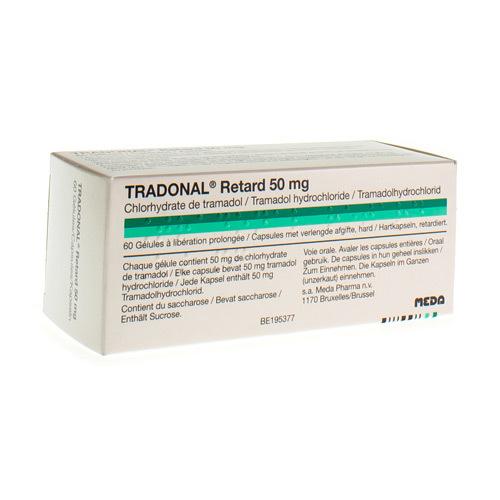 Tradonal Retard 50 Mg (60 Gelules)
