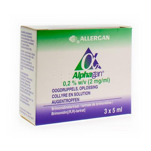 Alphagan Oogdruppels 0,2%  3 X 5 Ml