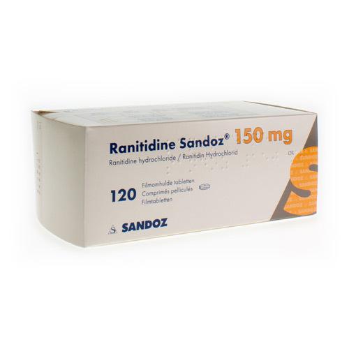 Ranitidine Sandoz 150 Mg (120 Tabletten)