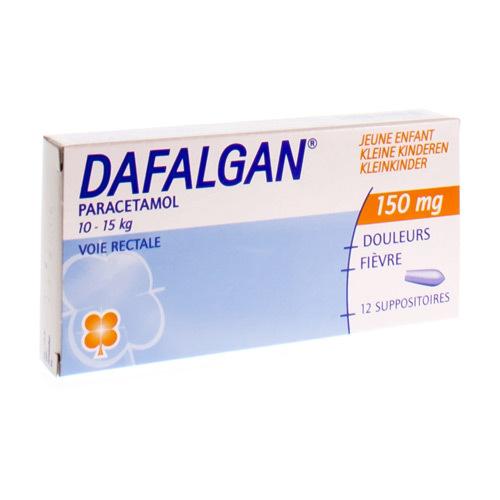 Dafalgan Jeune Enfant 150 Mg  12 Suppositoires