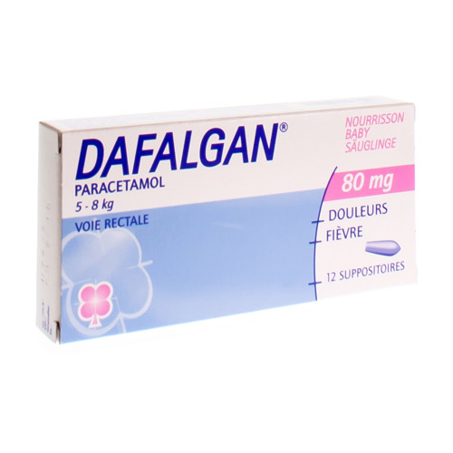 Dafalgan Nourrisson 80 Mg  12 Suppositoires