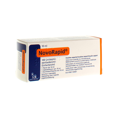 Novorapid 100 E/Ml (1 Injectieflacon)