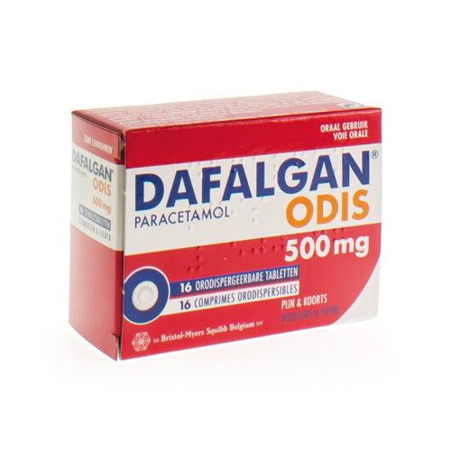 Dafalgan Odis 500 Mg  16 Smelttabletten