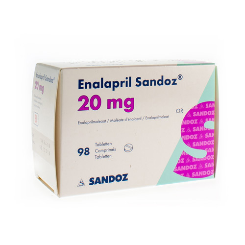 Enalapril Sandoz 20 Mg (98 Tabletten)
