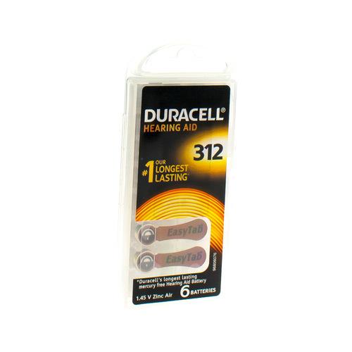 Duracell Hoorbat Easy Tab R312 6Stuk