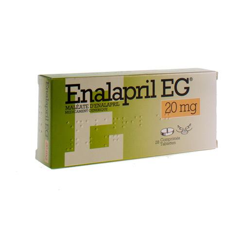 Enalapril EG 20 Mg (28 Comprimes)