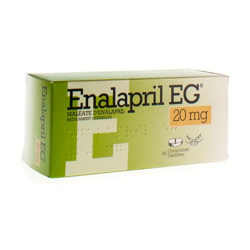 Enalapril EG 20 Mg (56 Comprimes)
