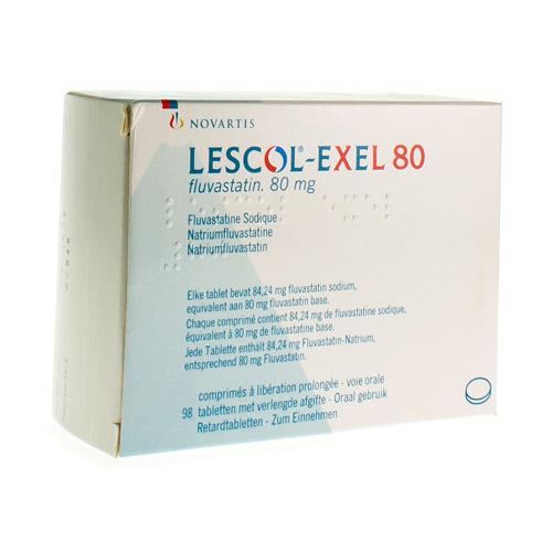 Lescol Exel 80 Mg (98 Comprimes)