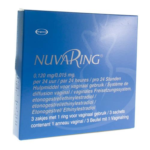 Nuvaring 0,120 Mg / 0,015 Mg (3 Ringen)