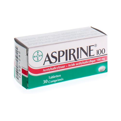 Aspirine 100 Mg  30 Comprimes