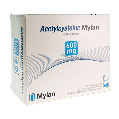 Acetylcysteine Mylan 600 Mg  60 Sachets
