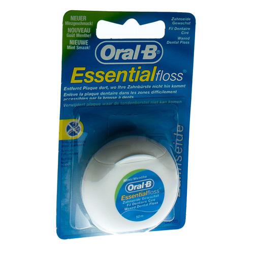 Oral B Floss Essential Floss Mint Waxed 50