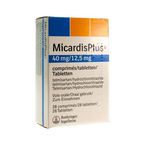 Micardis Plus 40 Mg / 12,5 Mg (28 Comprimes)
