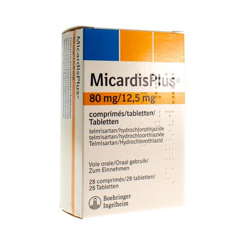 Micardis Plus 80 Mg / 12,5 Mg (28 Comprimes)