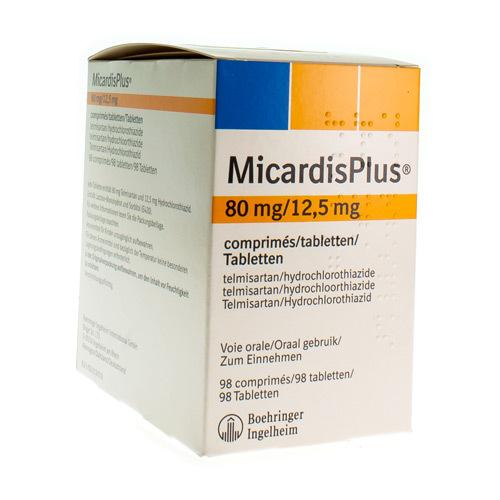 Micardis Plus 80 Mg / 12,5 Mg (98 Comprimes)