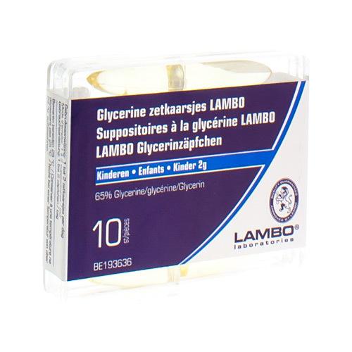 Glycerine Lambo Kinderen 2 g (10 zetpillen)