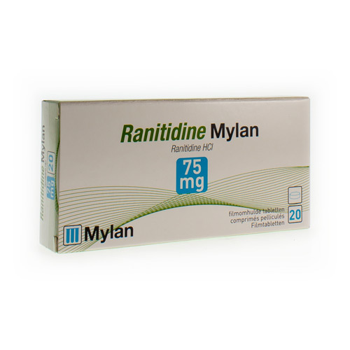 Ranitidine Mylan 75 Mg (20 Comprimes)