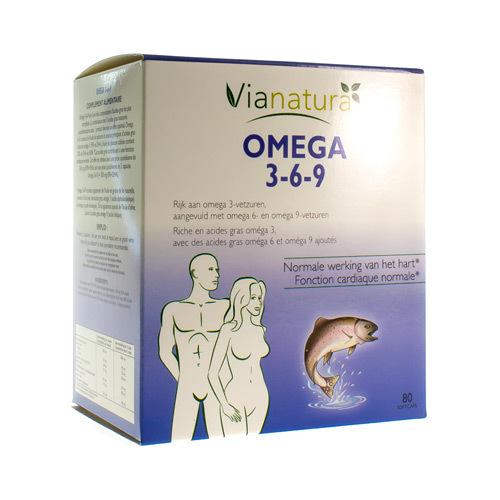 Via Natura Omega 3-6-9 (80 Capsules)