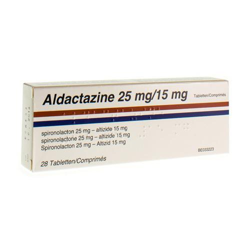 Aldactazine 25 Mg / 15 Mg  28 Comprimes