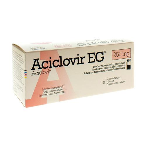 Aciclovir EG 250 Mg Pulv Sol Iv Inf Fl 10