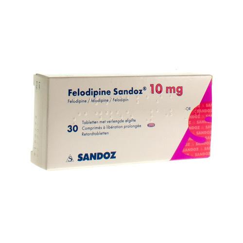 Felodipine Sandoz 10 Mg (30 Comprimes)