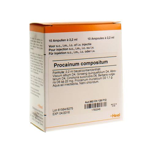 Procainum Compositum I Amp 10X2,2ml Heel