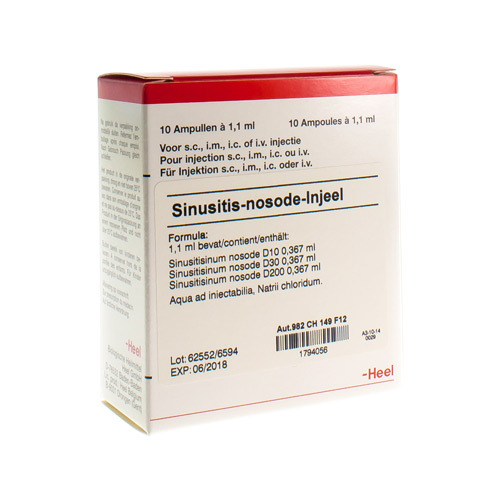 Sinusitis Nosode Injeel Amp 10X1,1ml Heel