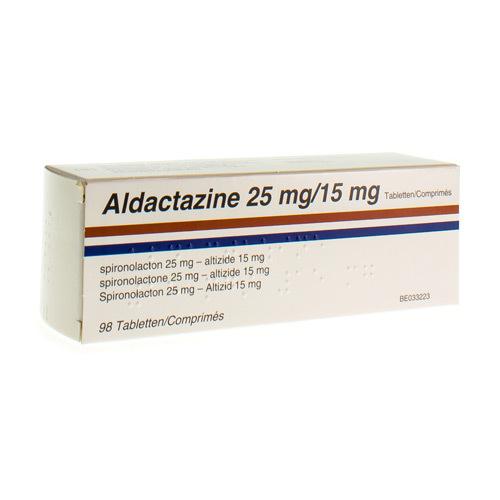 Aldactazine 25 Mg / 15 Mg  98 Comprimes