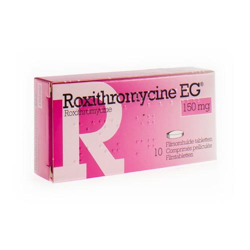Roxithromycine EG 150 Mg (10 Tabletten)