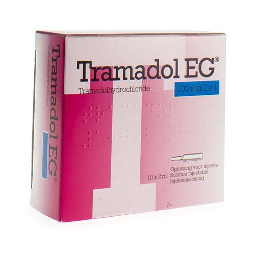 Tramadol EG 100 Mg/2 Ml (10 Ampoules)