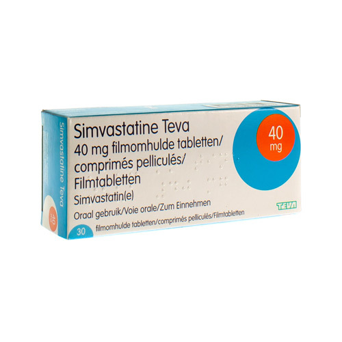 Simvastatine Teva 40 Mg (30 Tabletten)