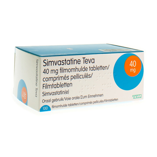 Simvastatine Teva 40 Mg (100 Tabletten)