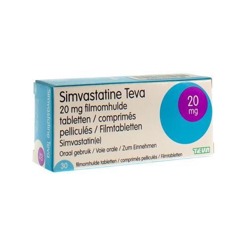Simvastatine Teva 20 Mg (30 Tabletten)