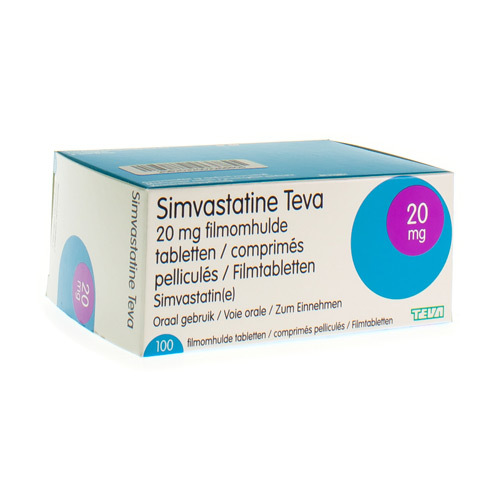 Simvastatine Teva 20 Mg (100 Tabletten)