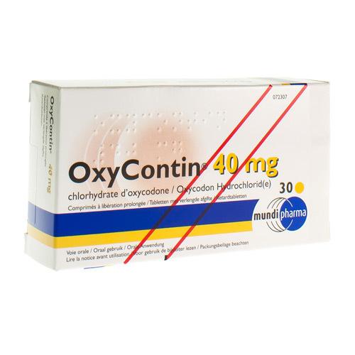 Oxycontin 40 Mg (30 Comprimes)