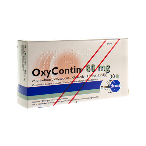 Oxycontin 80 Mg (30 Comprimes)
