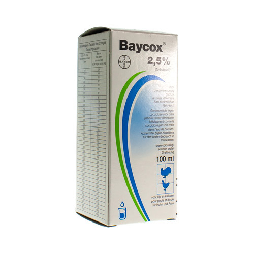 Baycox Veterinair 2,5%  100 Ml