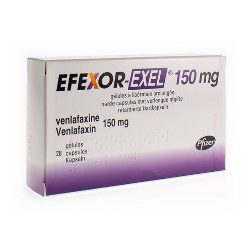 Efexor-Exel 150 Mg (28 Gelules)