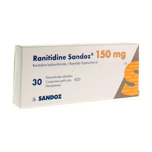 Ranitidine Sandoz 150 Mg (30 Comprimes)